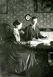 Kurt and Helma Schwitters in their flat, Waldhausenstraße, Hanover, 1919